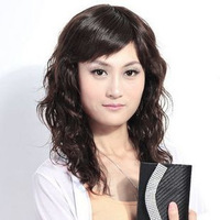 Real hair wig scroll fluffy women's hand-woven wig scroll women's elegant real hair wig