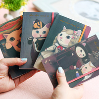 Cat vintage oil painting notebook notepad diary choo art note