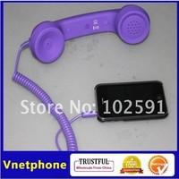 2013 1pcs purple Phone earphone RetroTelephone Headset popular Phone headphone practical gift telephone receiver