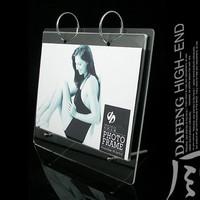 7 advertising nail acrylic calendar frame imitation crystal photo frame display rack transparent