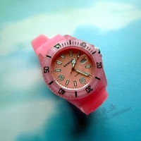 Scale swivel plate chromophous pointer watches jelly watch ice-watch table calendar gift watch