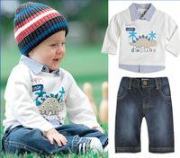 HB223 apring autumn children clothing set(2PC)/baby and kids suit autumn winter/boy set homewear Wholesale Retail Honey Baby