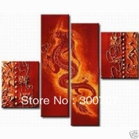 Free shipping handmade High Quality Modern Abstract Huge Wall Ornaments Canvas oil painting decoration Canvas art 4pc/set *489