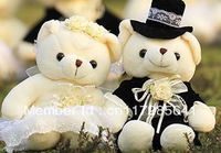Wedding Teddy Bear 18cm and 30cm for choosing soft  plush doll
