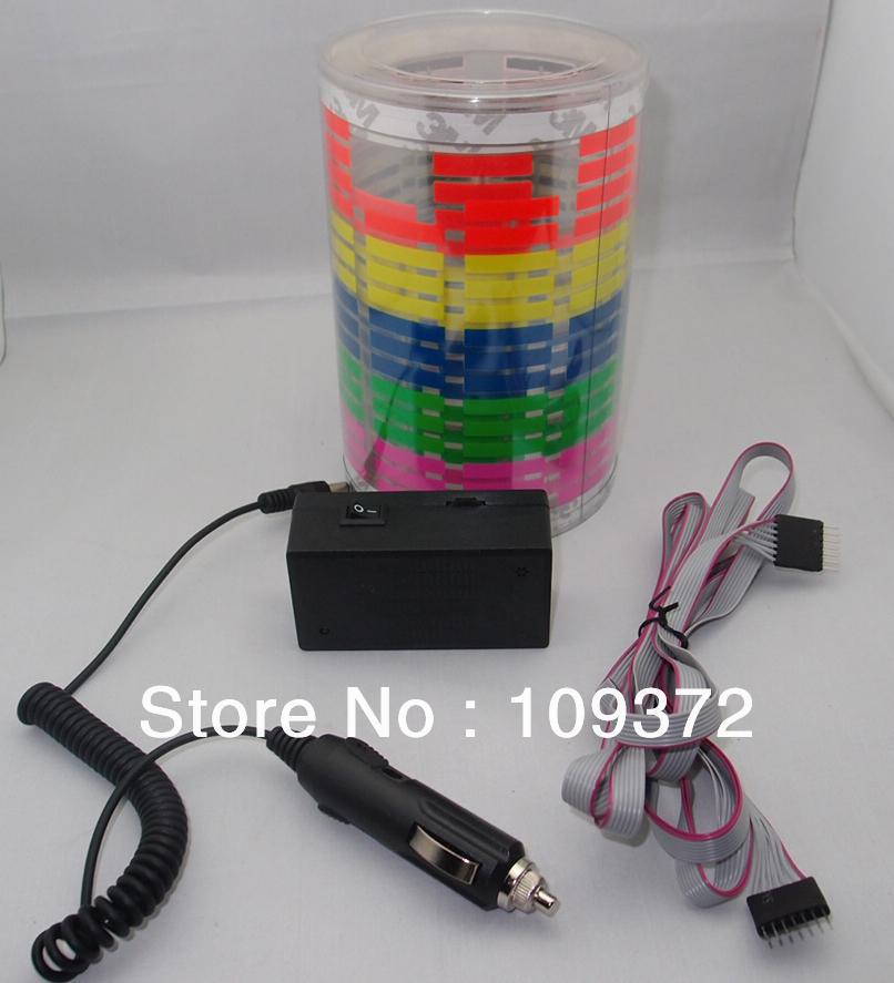 Best 50cmX30cm LED Car Music Rhythm Light Lamp EL Music Sound Activated Car Sticker LED Sticker Equalizer(China (Mainland))