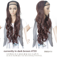 Wig long roll bulkness half wigs fashion female big wave wig half wigs