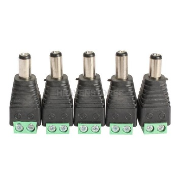 5PCS Mini Coax CAT5 To Camera CCTV BNC Video Balun Connector Adapter   hv3n