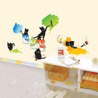 Free Shipping Wall stickers child cartoon sticker pet decoration cat