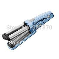 "Free Shipping PRO Nano Titanium 1/2"" Blue Mini Waver Curling Iron (Triple Barrel) Universal Voltage"