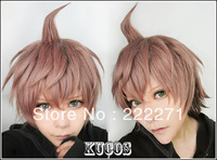 FREE SHIPPING Anime Dangan Ronpa Zero Nae gi Makoto Short Medium Brown Cosplay Wig Costume Heat Resistant + Cap