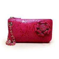 2013 genuine leather cowhide women's gentlewomen flower serpentine pattern day clutch wallet clutch bag coin purse
