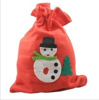 Free shipping  Christmas gift bag Santa clause sacks, 50*70cm,   drop shipping t301