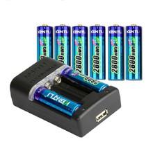 KENTLI 8pcs 1.5V 2800mWh AA rechargeable Li-polymer li-ion polymer lithium AA battery + Intelligent Fast Charger(China (Mainland))