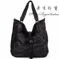 Sheepskin women's handbag genuine leather 2013 big bag fashion tassel women's messenger bag