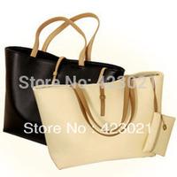 Brand 2013 fashion women designers handbags high quality shoulder bags for woman genuine PU leather organizer totes black white
