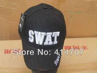 Retail SWAT Tactical Baseball Sun Hat Cap Black Uniform Men's Adult Canvas Cap for Outdoor Sport D0157