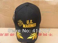 Retail US Marines Tactical Baseball Sun Hat Cap Black Uniform Men's Adult Canvas Cap for Outdoor Sport D0158