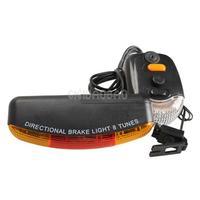 3in1 7-LED Bicycle Bike Rear Tail Turn Signal Brake Light Horn Safety Lamp #gib