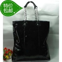 Fashion women's bags japanned leather light work bag ol handbag large type chains of capacity shoulder bag