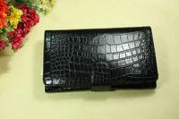 Fashion women's wallet elegant fashion black crocodile pattern day clutch banquet bag card holder