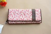 Fashion women's bags evening bag day clutch rustic small design print long wallet