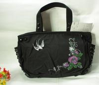 Fashion women's bags female rivet thick canvas bag style handbag chains of print shoulder bag