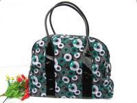 Fashion women's bags elegant polka dot thick canvas print shoulder bag handbag OL outfit