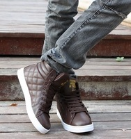 Spring and autumn new arrival men's the trend of fashion high-top shoes male shoes casual shoes skateboarding shoes martin shoes
