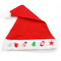 For dec  oration christmas hat child adult blended-color pattern christmas hat luminous