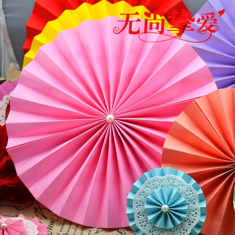 Handmade Origami Fan Paper Windmill Paper Flowers Wedding