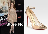 Free shipping 2013 High Heels Picks and Co120 Lace Strass spike heels shoes Wedding Shoes Brand Red Sole Bridal Shoes