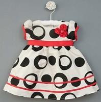 Aykta female child black and white dot skirt one-piece dress nbsp .