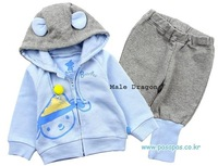Risunnybaby cloth Sports casual sweatshirt trousers twinset 2014 boy set sportswear