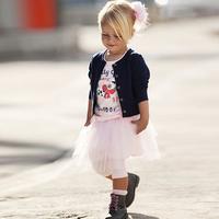 Elegant children's clothing three piece set 2014 autumn princess set