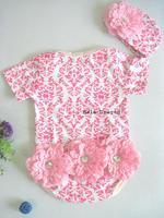 Risunnybaby Senshukai personality three-dimensional flower small romper bodysuit romper 2014 children's clothing
