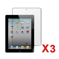 new 3X Screensavers Wholesale Clear LCD Screen Protector Film Guard for Apple iPad 2 3 4 Free Shipping best price