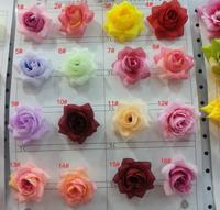 100pcs/lot 4cm Rose Artificial Silk Flower Heads Wedding party Hair dressing Diy flower heads free shipping