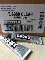 free shipping 24pcs 29.7ML  E6000 Glue 29.7ml e6000 glue for jewelry findings