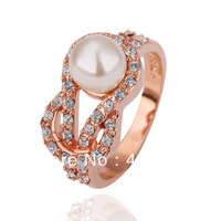 Freeshioping ( Min.Order Is $10 )  2013 fashion Italina crystal jewelry Popular high-end ring brand rose rings for women R107
