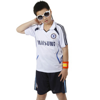 2013 summer sports set children's clothing football male child short-sleeve sportswear shorts chelsea jersey