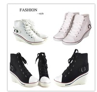 Spring Women Wedge Casual Sneakers Canvas Shoes (Size 35-39) 2388