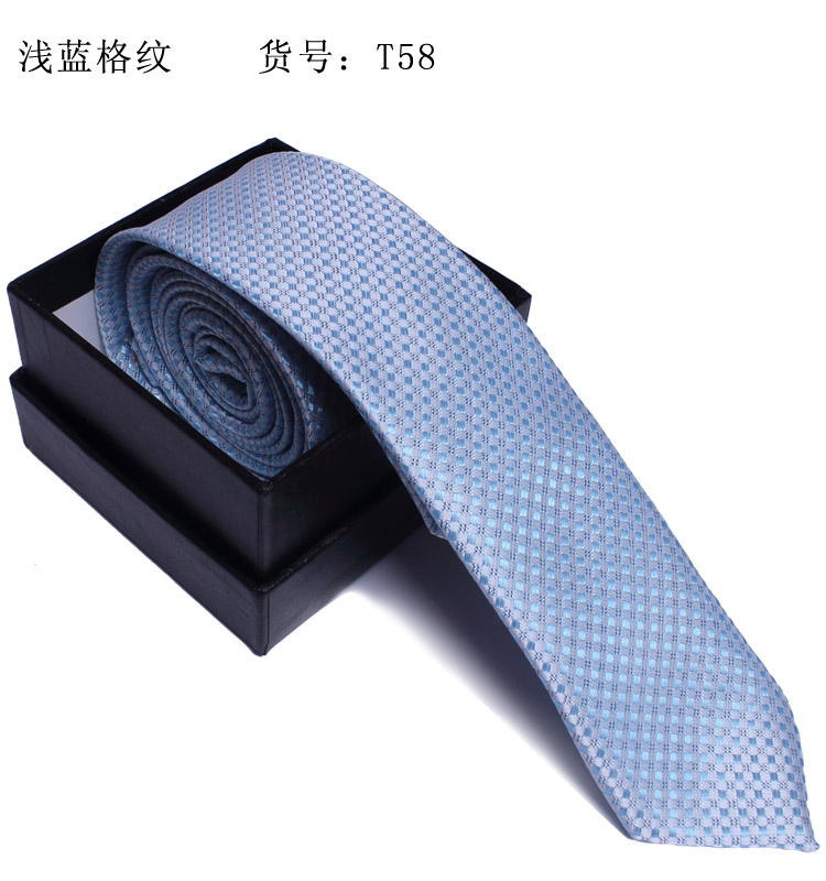 Terrence 2013 narrow version tie commercial fashion casual south korean silk check(China (Mainland))