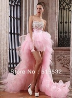 Free Shipping! New Style Sexy Sweetheart Pleat Beads Organza Prom Dresses Party Dress Evening Dresses N3310