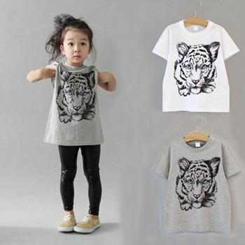 Ive 2015 дети майка мальчики тигр футболки девушки футболки тройники дети мода топ IU301