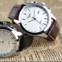 Novelty 2012 classic fashion watch calendar commercial elegant male watch
