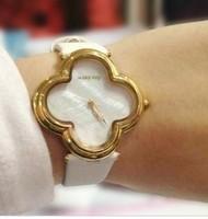 HOT Menlinkai whitening fashion watch petals watches four leaf clover style women's white