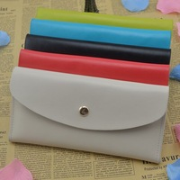 Free shipping Women Multipurpose Wallet with Key Chain Genuine leather Coin Purse Fashion design 4 color