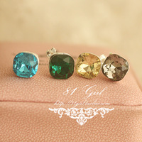 Sparkling crystal chromophous no pierced earrings girls invisible ear clip male earrings 774