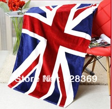 Christmas promotion UK flag beach towel, sea towel, sand beach towel, bath towel(China (Mainland))