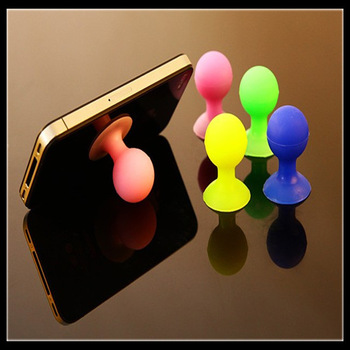 Wholesale Rubber Octopus Sucker Ball Stand Holder Desktop Stander Bracket for iPhone 5 / 4S / 4 / 3GS / iPad/Mp3/4